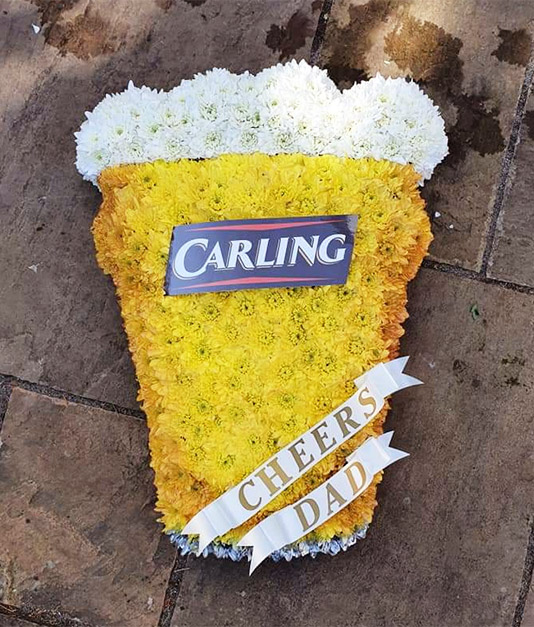 Bespoke Floral Tribute - Carling Beer