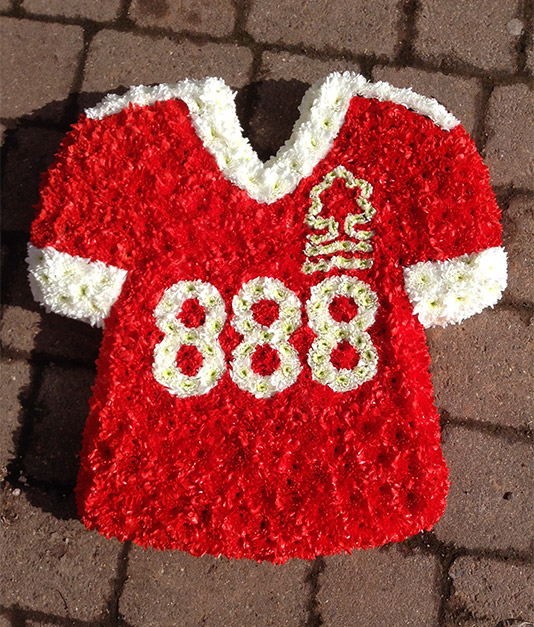 Nottingham Forest Funeral Flowers Tribute