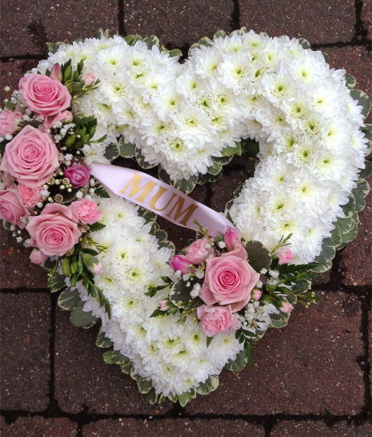 Personalised Open Based Heart Funeral Tribute 3