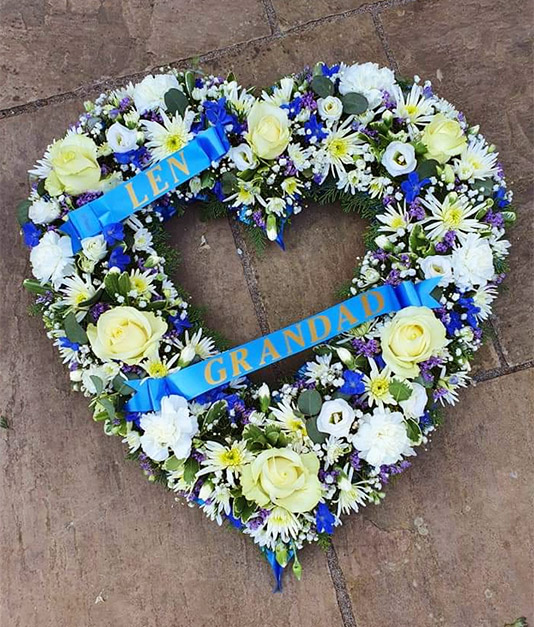 Personalised Open Heart Funeral Tribute