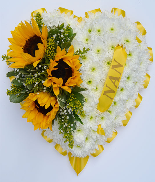 Personalised Solid Hearts Funeral Tribute 2
