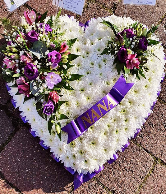 Personalised Solid Hearts Funeral Tribute