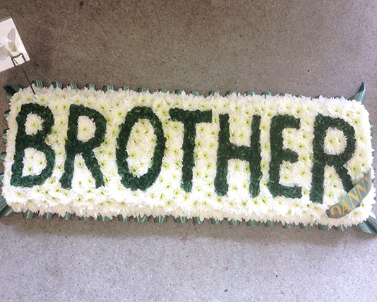 Brother Lettered Funeral Tribute