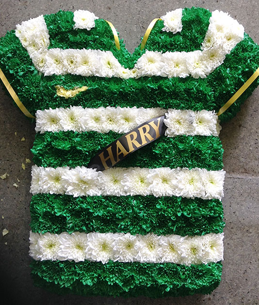 Football T-Shirt Bespoke Flowers Design