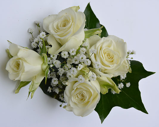 Wedding Buttonholes White Roses